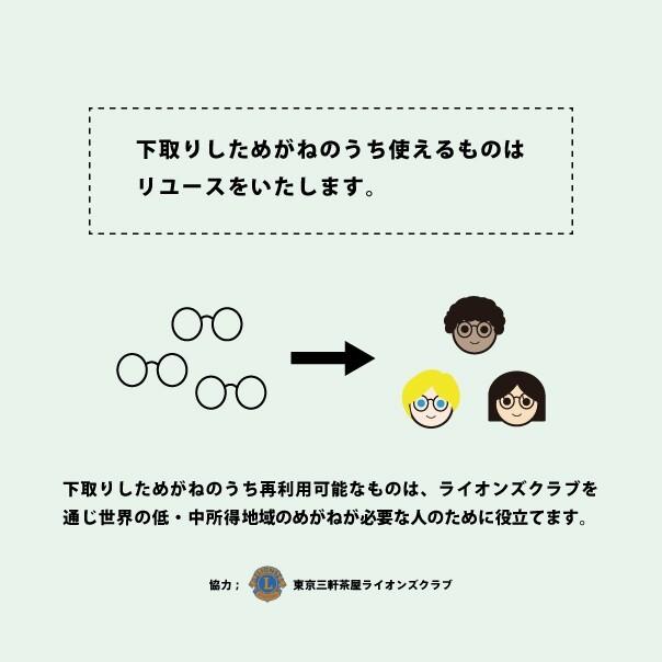 眼鏡・サングラスのリユースキャンペーン
